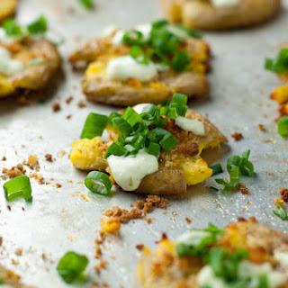 Smashed Potatoes With Jalapeno Lime Aioli