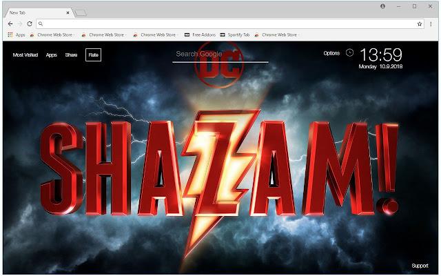 Dc Comics Shazam Hd Wallpapers New Tab Themes Free Addons