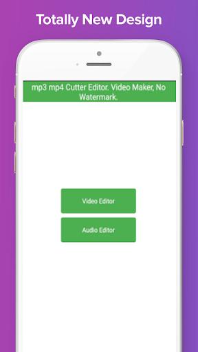 mp3 mp4 Cutter Editor. Video Maker, No Watermark. 1.10 screenshots 11