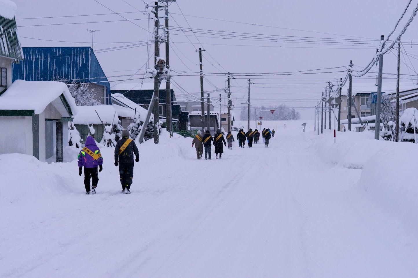 和市街を走るマラソン