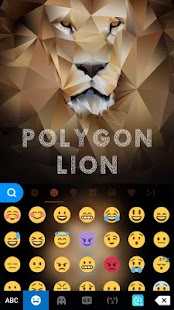 Polygon Lion Kika Keyboard - náhled