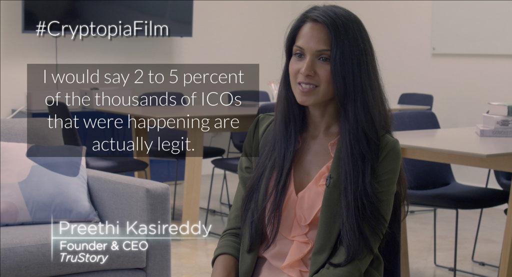 Extrait du film Cryptopia avec Preethi Kasireddy, CEO de TruStory