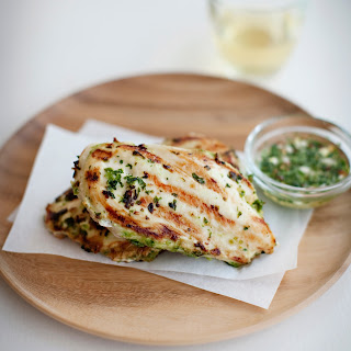 Thai Grilled Chicken with Cilantro Dipping Sauce.
