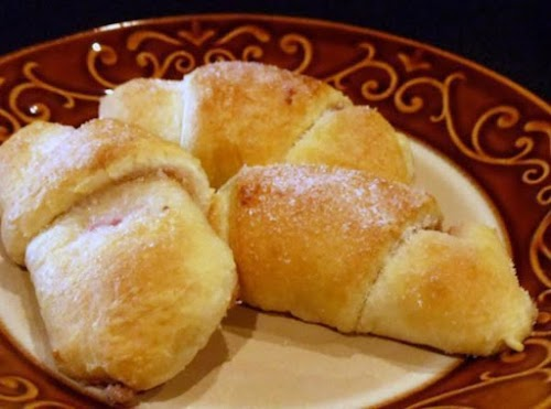 "Raspberry Honey-Walnut Crescent Rolls ""Made these and took them to hunky hubby's..."