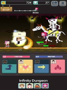 Infinity Dungeon apk screenshot