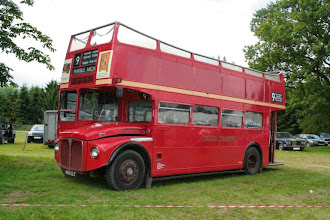 Photo: Section member David Cooper brought along his open-top Routemaster bus which has covered a mere 1.7 million miles and runs like a dream