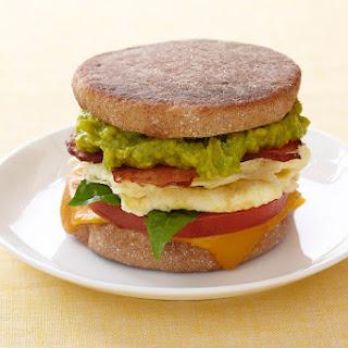 Avocado and Egg Breakfast Sandwich.