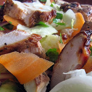 Grilled Chicken Salad with Soy Vinaigrette.