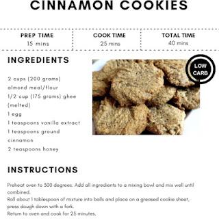 Low Carb Cinnamon Cookies Recipe