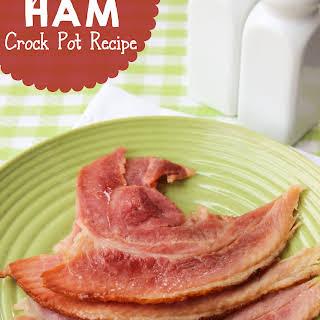 Crock Pot Spiral Ham.