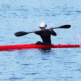 Canoeing - I by Joatan Berbel - Sports & Fitness Watersports ( watersports, sports, canoe, colorfull )