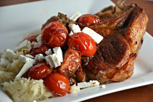 Balsamic Tomato Pork Chops Recipe
