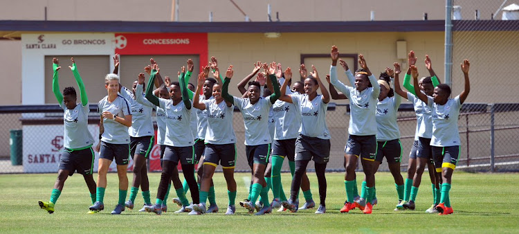 Banyana Banyana players train at the Santa Clara University in California as they prepare for the battle against the USA.