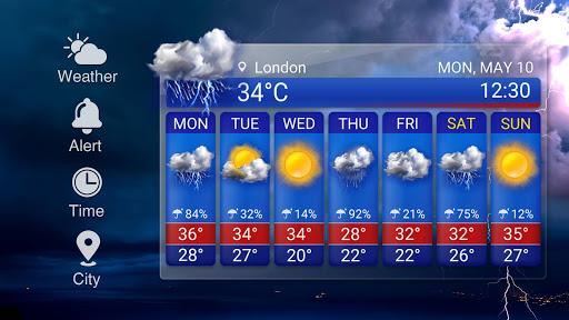 Transparent Weather Widget Raining  screenshots 13