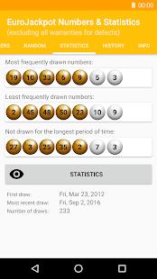 EuroJackpot Numbers & Statistics - náhled