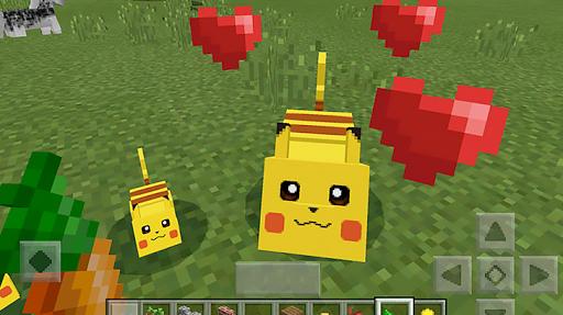 Pikachu mod for minecraft pe 1.5 screenshots 1