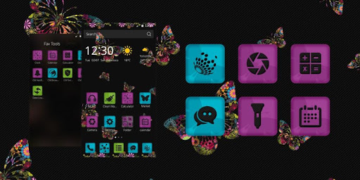 Colorful Butterflies Theme