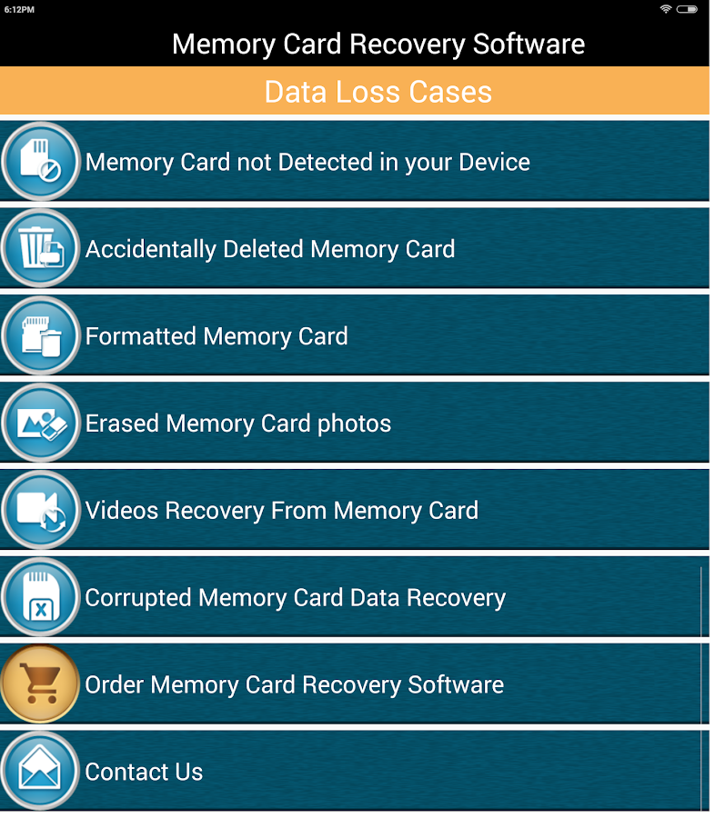 Memory card recovery software android apps on google play memory card recovery software screenshot ccuart Image collections