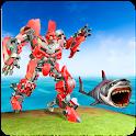 Robots & Shark Transformation Hunter War 3D icon