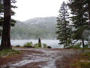 Photo: One of the Thomson Lakes on the road to Glacier