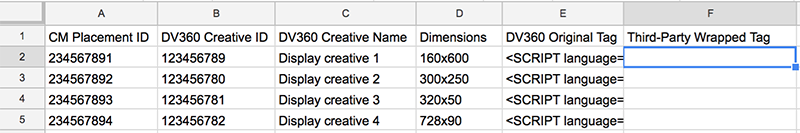 Example display tag wrapping spreadsheet