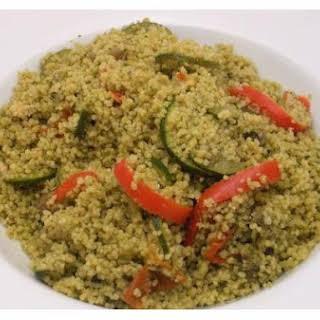 Couscous and Pesto Veggies.