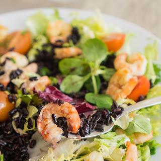 Black Rice and Shrimps Salad.