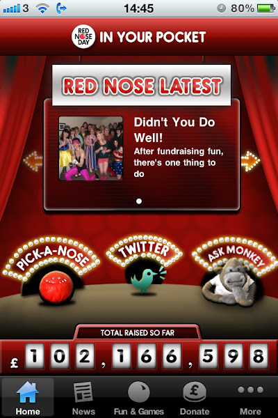 Photo: Red Nose Day 2011 iPhone app