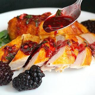 Georgian Chicken in Blackberry (Rachuli) Sauce.