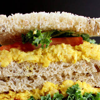 Turmeric Chickpea Sandwich [Vegan, Gluten-Free].