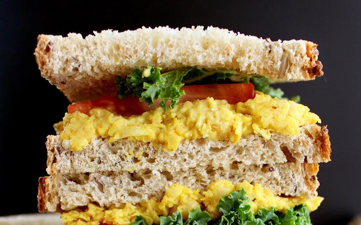 Turmeric Chickpea Sandwich [Vegan, Gluten-Free] Recipe
