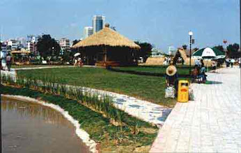 Photo: CHN_UR01 vetiver thatched roofs in a park in Chna