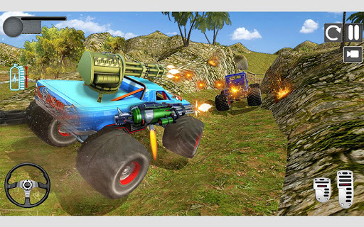 Monster Truck Shooting Race 2020: 3D Racing Games android2mod screenshots 11