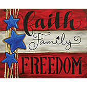 canvas painting design - Faith, Family, Freedom