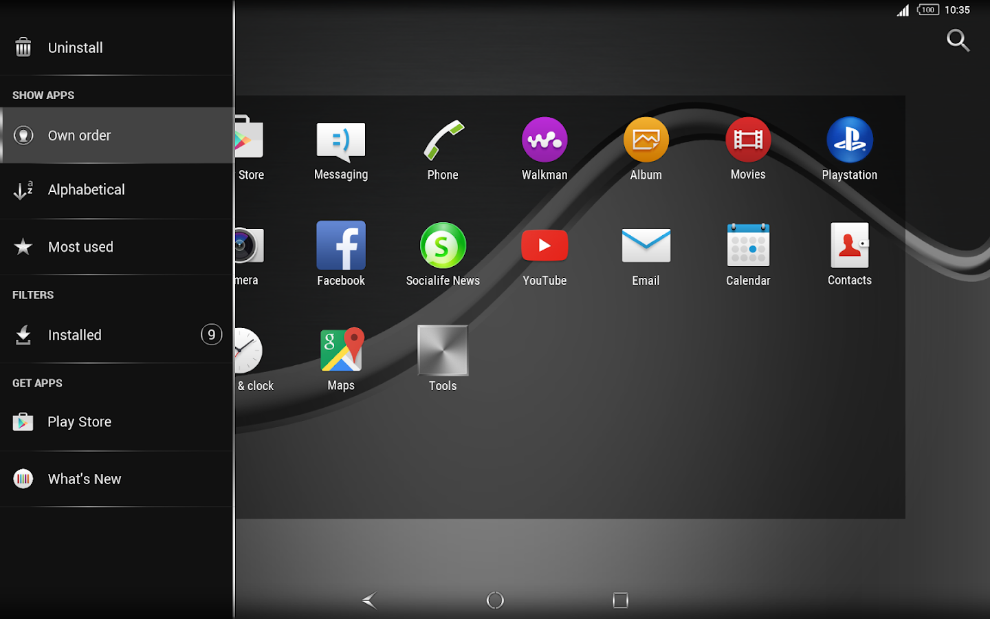 Silver Brushed for Xperia- screenshot