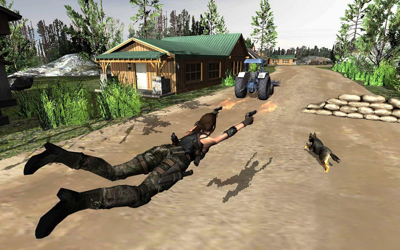 Secret Agent Lara Croft : Front Line Commando- screenshot