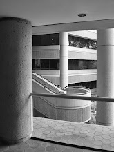 Photo: Day 283-Three Columns And Stairs In Black And White  I'm really starting to enjoy seeking out scenes that might look better in black and white instead of color.  Today, I was walking around outside our office during lunch and saw this composition of the building columns framing a stairway. I thought it would make a nice image for day 283 of my project 365:  From the blog post at:http://www.marksphotographyspot.com/three-columns-and-stairs-in-black-and-white/  #blackandwhitephotography