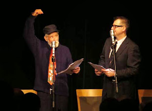 Robin Queree is Spike Milligan, and John Stretton is Peter Sellers in The Goon Show LIVE!