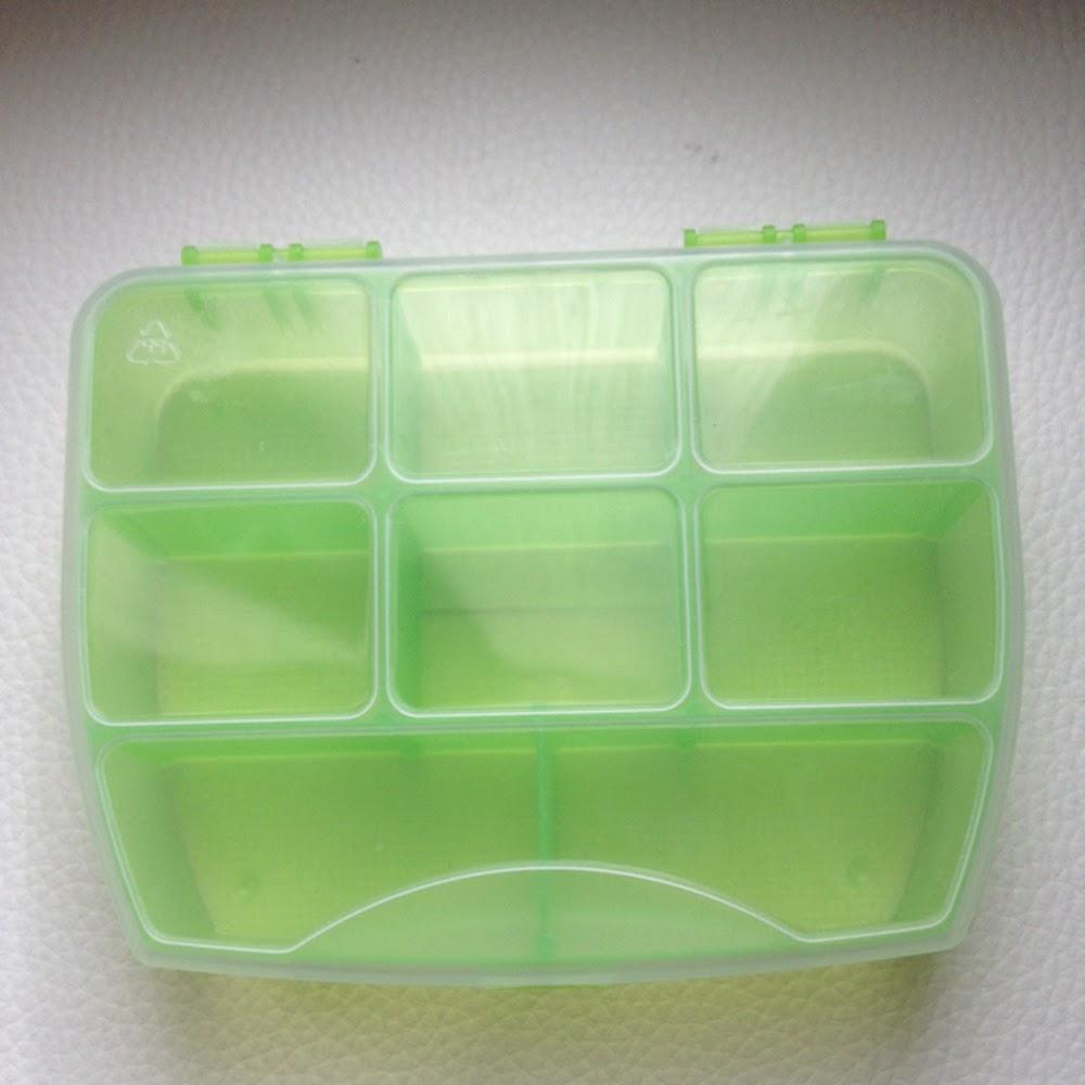 portaplettri verde con coperchio