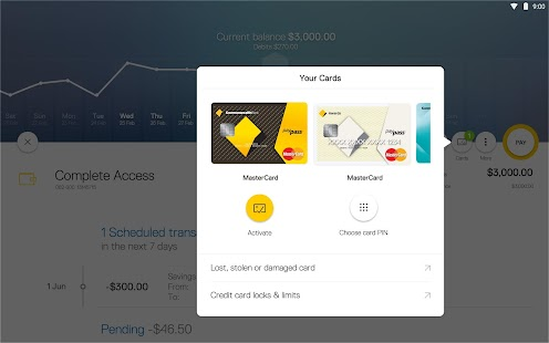 CommBank app for tablet- screenshot thumbnail