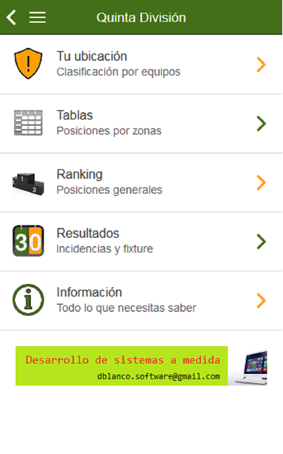 Ranking Metro A Hockey- screenshot