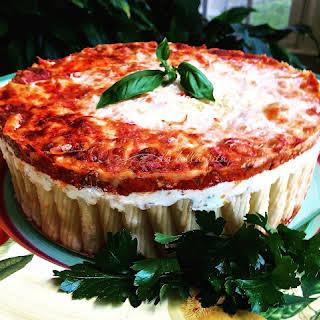 Cheesy Italian Rigatoni Torta.