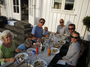 Photo: This is what life is really about: Diana, Soren, Finn, Martin, Oscar, Tonje, Hugh and Elisabeth enjoying being together.