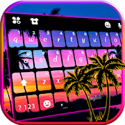 Sunset Beach 2 Keyboard Theme