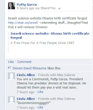 Photo: crazy liberal lady linda allen comment on my facebook wall 8112012