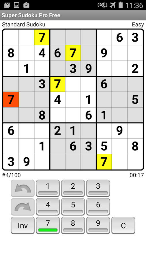 Super Sudoku Pro Free- screenshot