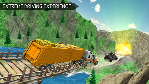 Off-Road Gold Transport Trailer Trucker 3D screenshot 6