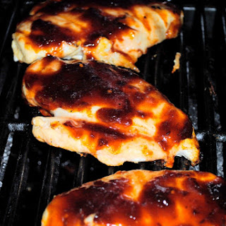 Grilled Chicken and Sweet with Heat Boysenberry Barbecue Sauce.