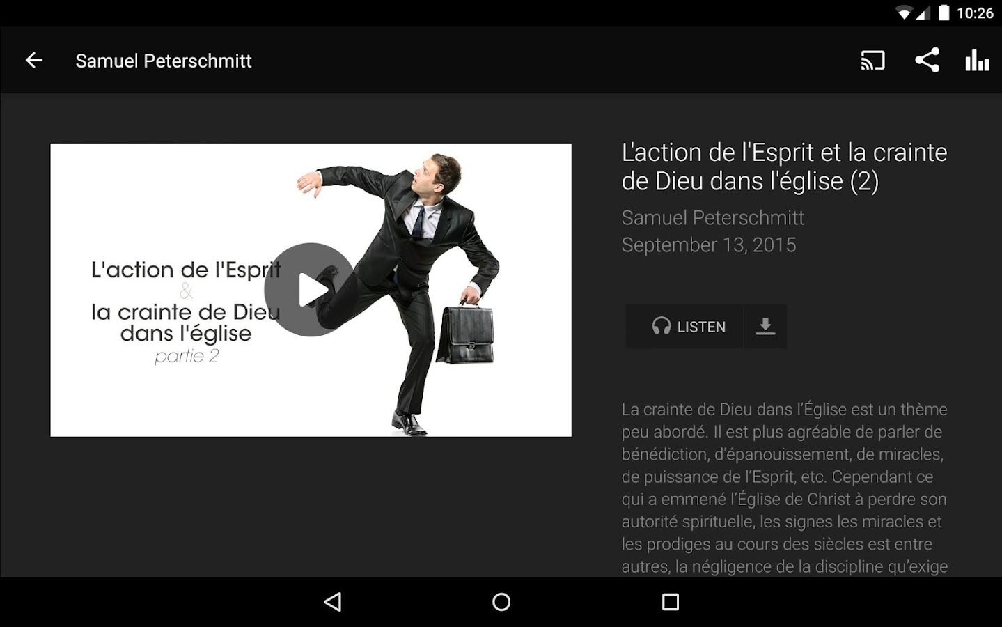 La porte ouverte android apps on google play - Culte en direct de la porte ouverte de mulhouse ...