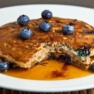 Blueberry Cottage Cheese Pancakes.